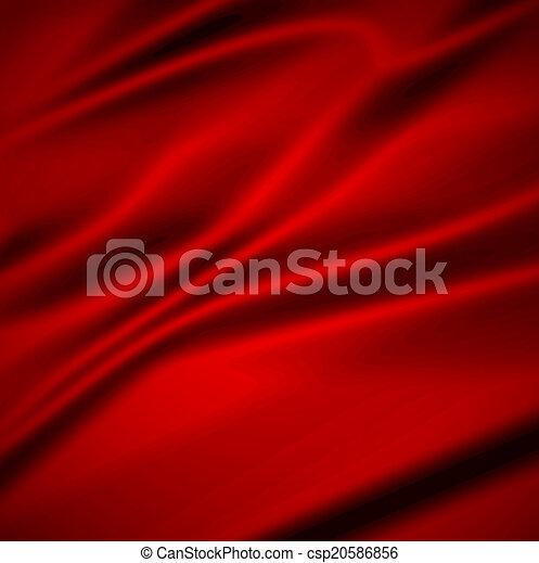 ひだのある布, 背景, 美しい, 赤, silk., イラスト, 織物 - csp20586856