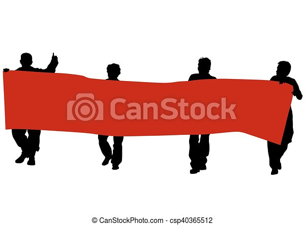 ほんの少し, 旗, 人々 - csp40365512