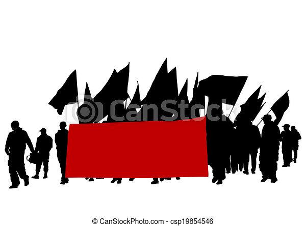 ほんの少し, 旗, 人々 - csp19854546