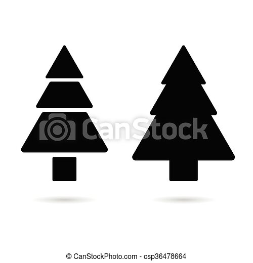 もみの 木 シルエット イラスト モミ シルエット 色 木 イラスト 黒