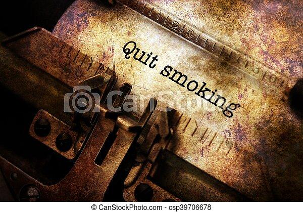 やめられる, タイプライター, 喫煙, テキスト - csp39706678