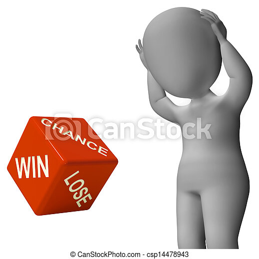 よい, さいころ, 勝利, チャンス, 失いなさい, ショー, 運 - csp14478943