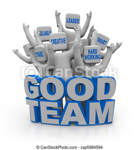 よい, 人々, -, チームワーク, qualities, チーム - csp5984594