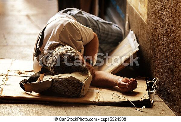 よくわからない, ホームレスである, 睡眠 - csp15324308