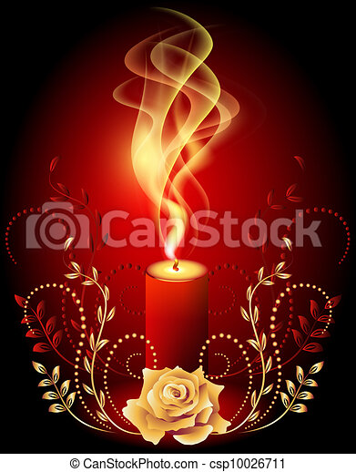 ろうそく, 燃焼, 煙 - csp10026711