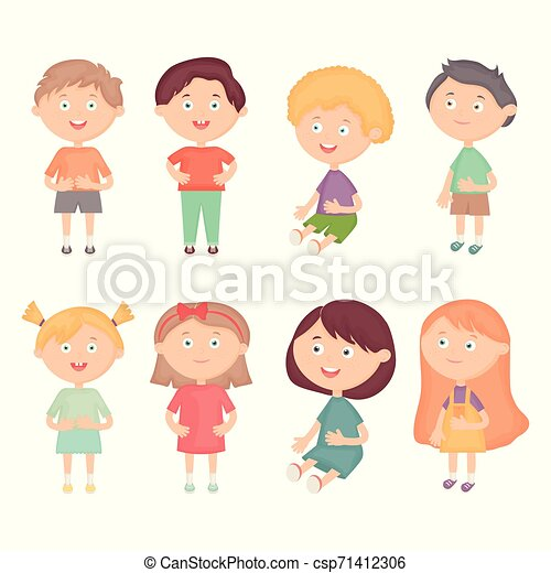 わずかしか, 子供, グループ, 特徴 - csp71412306