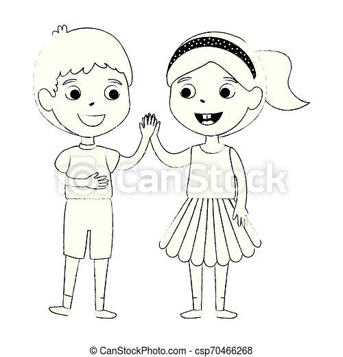 わずかしか, 子供, 恋人, 特徴 - csp70466268