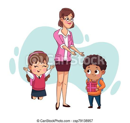 わずかしか, 恋人, 教師, 生徒, 子供 - csp79138957