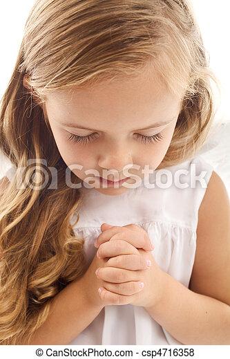 わずかしか, 祈ること, 女の子 - csp4716358
