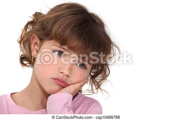 わずかしか, 表現, 悲しさ, 女の子 - csp10499788