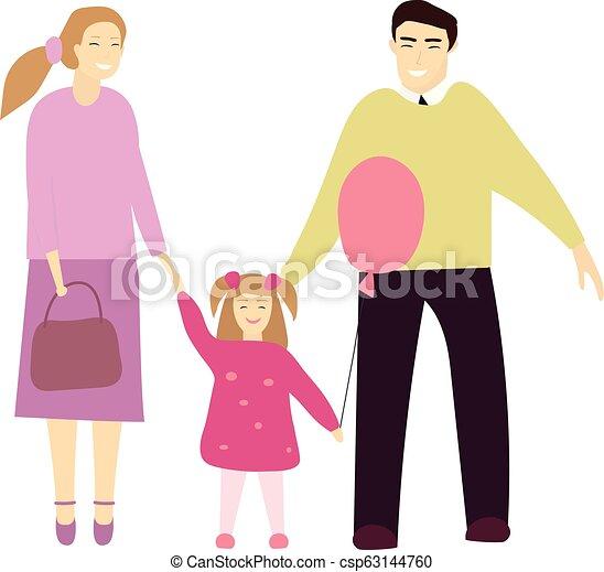 わずかしか, daughter., 恋人, イラスト, ∥(彼・それ)ら∥, ベクトル, 幸せ - csp63144760