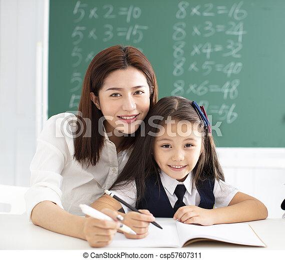 わずかしか, gile, 教師, 助力, 執筆, クラス - csp57607311