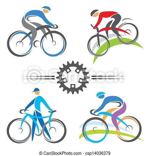 アイコン, サイクリング - csp14036379