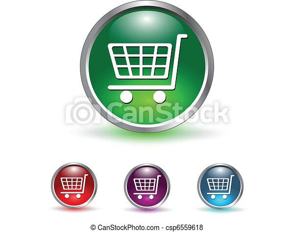 アイコン, ボタン, 買い物カート - csp6559618