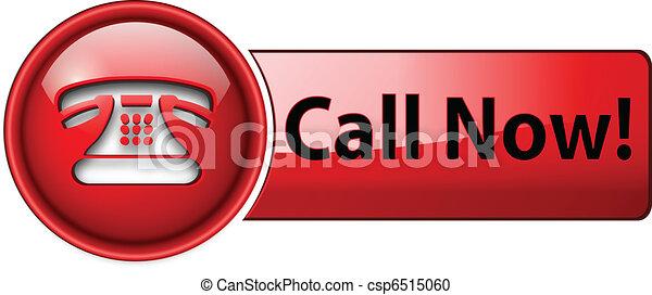 アイコン, ボタン, 電話 - csp6515060