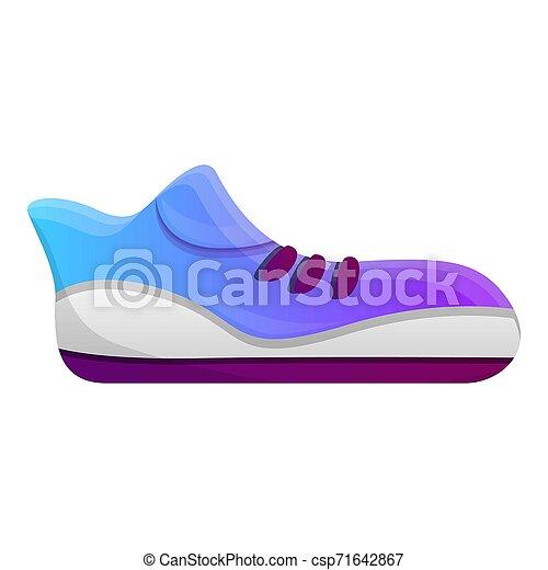アイコン, 動くこと, スタイル, 漫画, 靴 - csp71642867