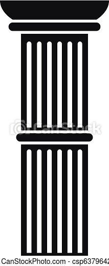アイコン, 単純である, 柱, スタイル - csp63796421
