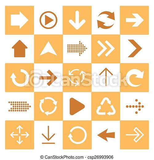 アイコン, 印, 基本, set., 矢 - csp26993906