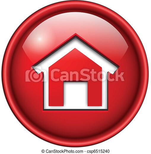 アイコン, 家, button. - csp6515240