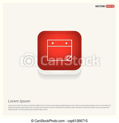 アイコン, 平ら, デザイン, メモ用紙 - csp61266715