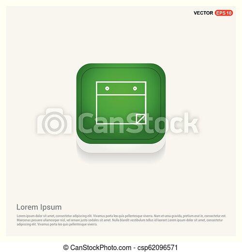 アイコン, 平ら, デザイン, メモ用紙 - csp62096571