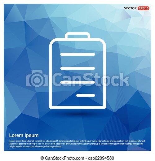 アイコン, 平ら, デザイン, メモ用紙 - csp62094580