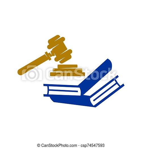 アイコン, 本, 正義, ベクトル, デザイン, 隔離された, 会社, 法律, ロゴ, テンプレート - csp74547593