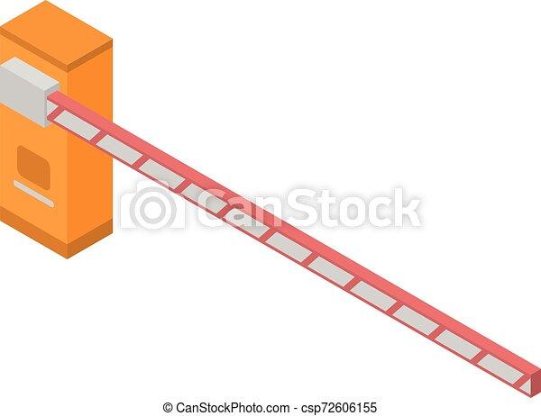 アイコン, 等大, スタイル, 障壁, 駐車 - csp72606155