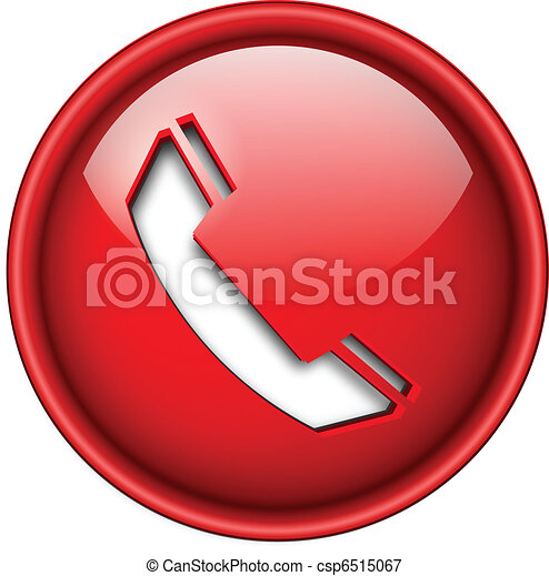 アイコン, 電話, button. - csp6515067