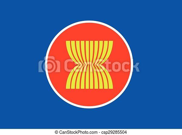 アイコン, asean, 旗, アジア, ...