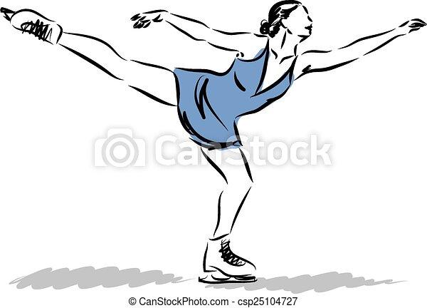 アイススケート, d, イラスト - csp25104727
