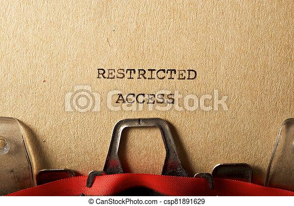 アクセス, テキスト, 限られた - csp81891629