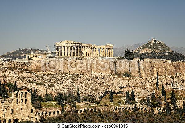 アクロポリス, アテネ, ギリシャ - csp6361815