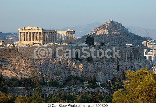 アクロポリス, 有名, アテネ, バルカン, ランドマーク - csp4502309