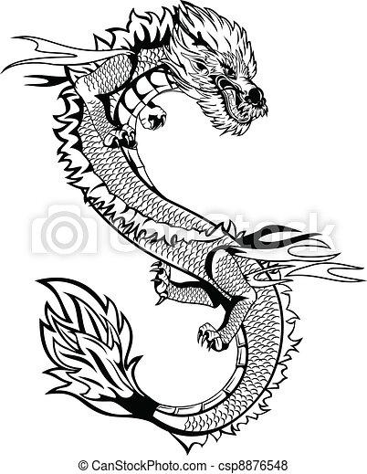 アジア人, ドラゴン - csp8876548
