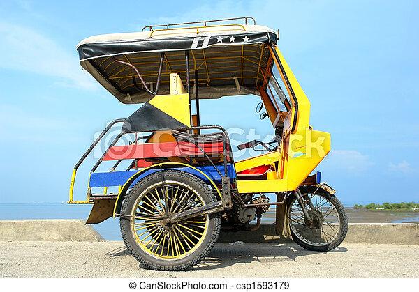 アジア人, 三輪車 - csp1593179
