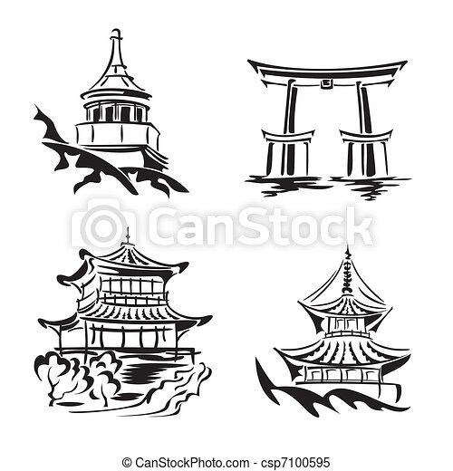 アジア人, 寺院 - csp7100595