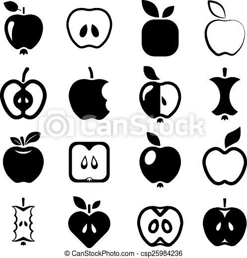 アップル, アイコン - csp25984236