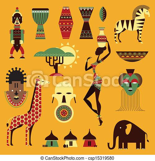 アフリカ, アイコン - csp15319580