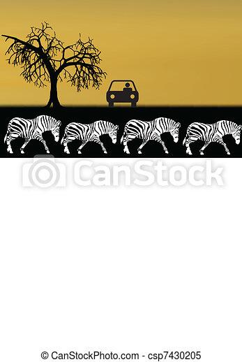 アフリカ, イラスト, サファリ - csp7430205