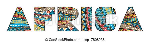 アフリカ, タイトル - csp17808238