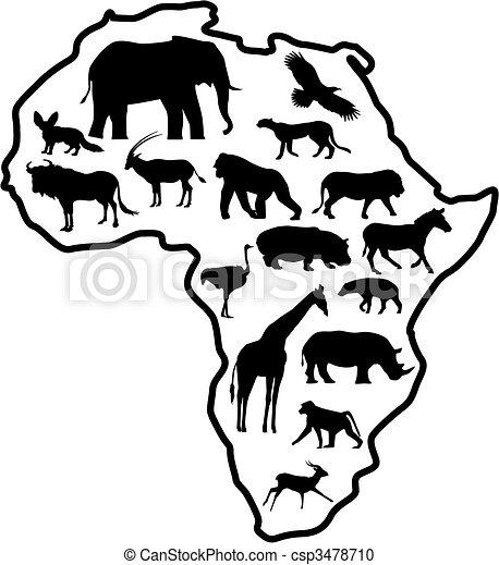 アフリカ, 動物 - csp3478710