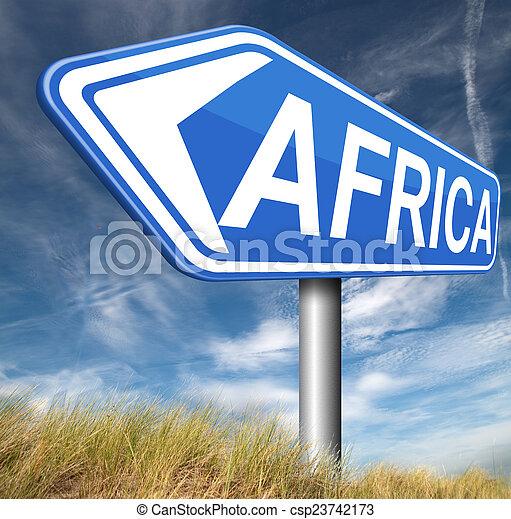 アフリカ, 印 - csp23742173