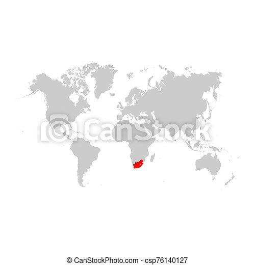 アフリカ, 地図, 世界, 南 - csp76140127