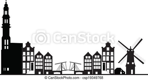 アムステルダム, スカイライン - csp19349768