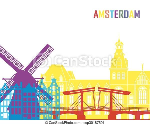 アムステルダム, スカイライン, ポンとはじけなさい - csp30187501