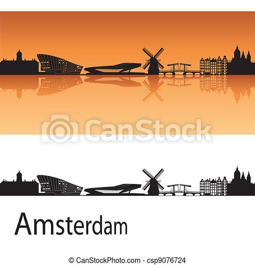 アムステルダム, スカイライン - csp9076724
