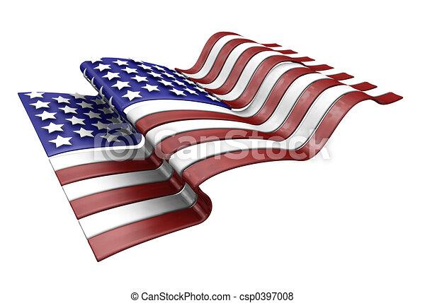 アメリカの旗 - csp0397008