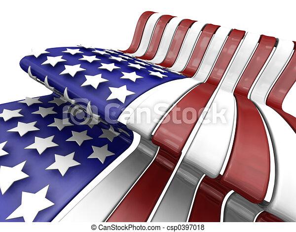 アメリカの旗 - csp0397018