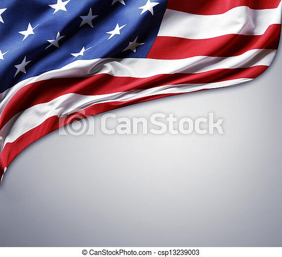 アメリカの旗 - csp13239003